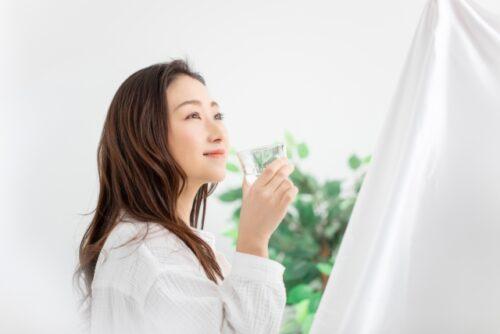 美・スリムすっぽん黒酢美姜の飲み方(イメージ)
