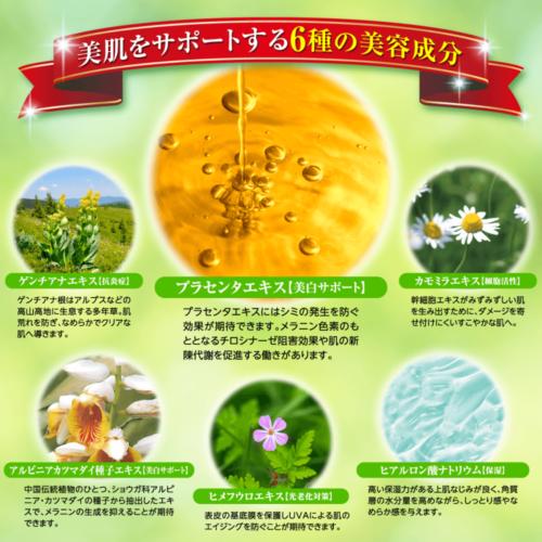 ブレイター薬用UV美容液は美肌作りを助ける6種類の美容成分を配合