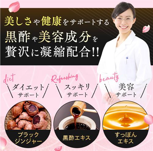 美・スリムすっぽん黒酢美姜の成分