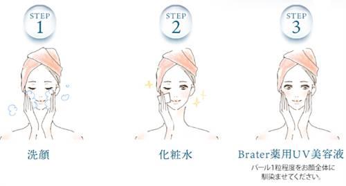 ブレイター薬用UV美容液の使い方