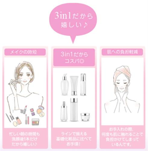 マイプリセラムはひとつで導入液・化粧水・美容液の3役をこなす